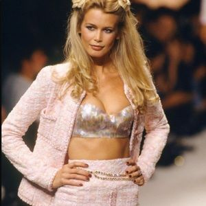 Iconic Chanel Vintage Spring 1995 Pink Jacket Suit